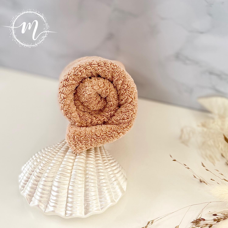 Serviette turban en micro fibre Rose