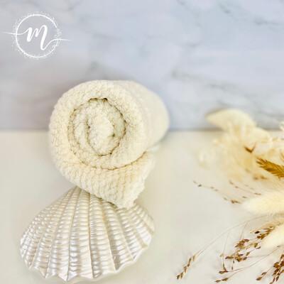 Serviette turban en micro fibre Beige
