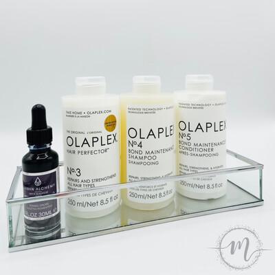 Ma routine de rêve OLAPLEX pour un blond parfait en édition limitée N°3, N°4, N°5 + Gouttes pigmentées
