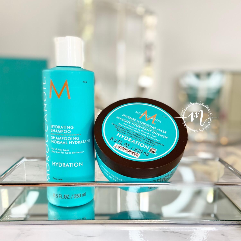 Ma routine Shampooing Hydratation et Masque Hydratation Intensif Moroccanoil