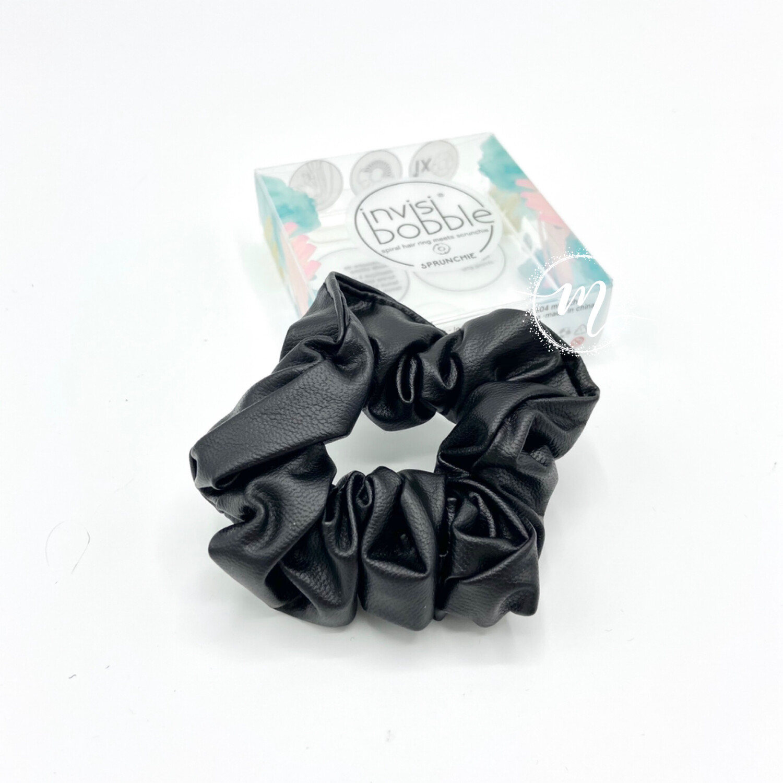 Chouchou invisibobble Sprunchie effet cuir Noir