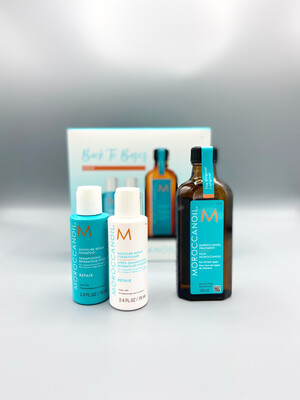 "Coffret ""Back To Basics"" Repair Huile Classique Traitement Original Moroccanoil 100ml + Shampooing & conditioner Repair 70ml"