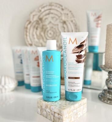 Ma routine : Shampooing hydratation + Masque Pigmentant Cocoa 200ml Moroccanoil