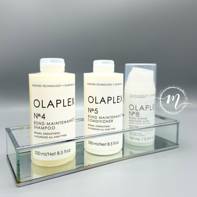 Ma routine OLAPLEX N°4, N°5, N°8 / Shampooing réparateur 250ml + Conditioner N°5 + Masque N°8