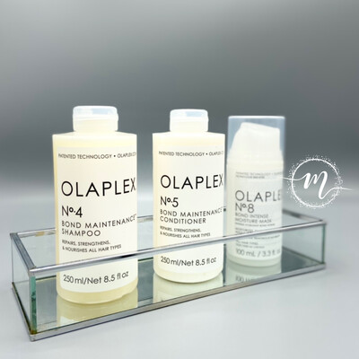 Ma routine OLAPLEX N°4, N°5, N°8 / Shampooing réparateur 250ml + Conditioner N°5 + Masque N°8