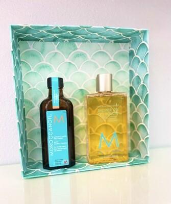 Coffret Huile Classique + Gel Douche Collection Body Line Moroccanoil