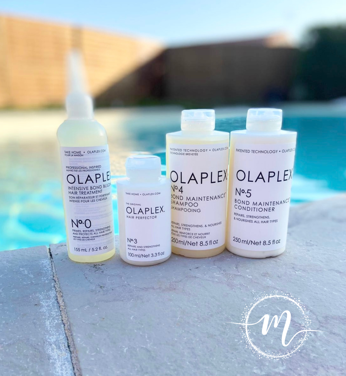 Ma routine Olaplex N°0, N°3, N°4, N°5 / Soin réparateur + Soin pré-shampooing + Shampooing réparateur + Conditioner