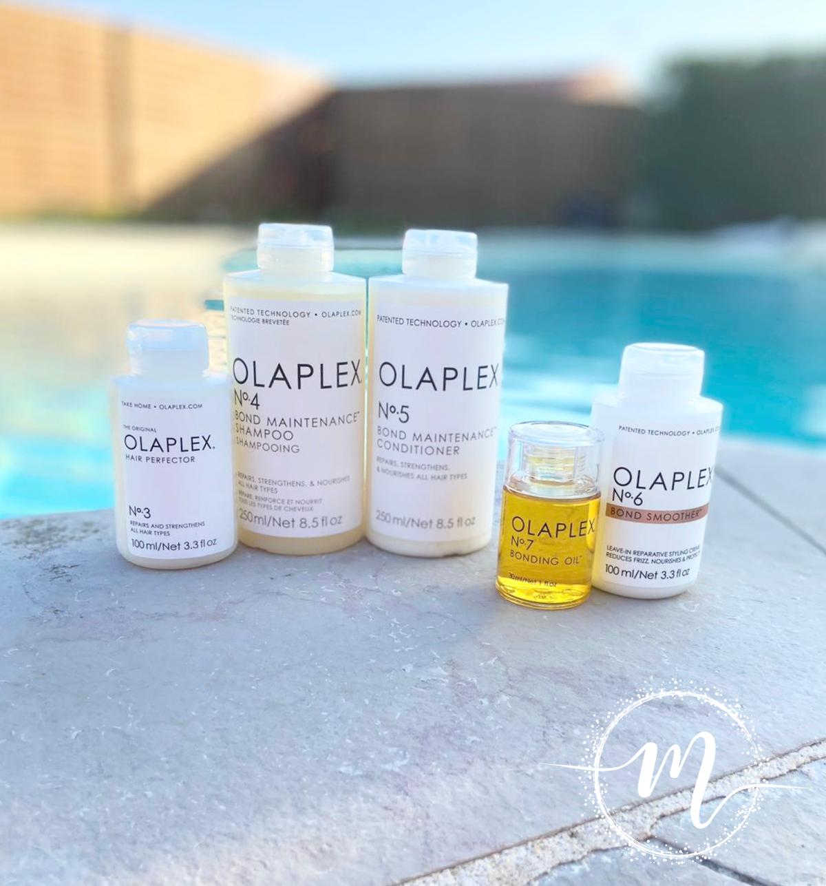 Ma routine Olaplex N°3, N°4, N°5, N°6, N°7/ Soin pré-shampooing + Shampooing réparateur + Conditioner +  Crème coiffante + Huile réparatrice