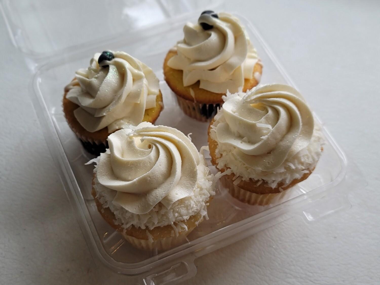4 Coconut Cupcakes