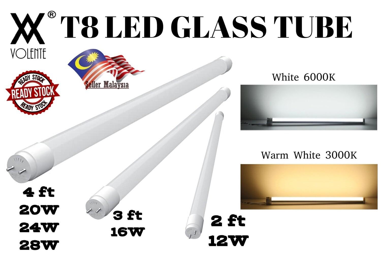T8 LED GLASS TUBE 2FT 3FT 4FT