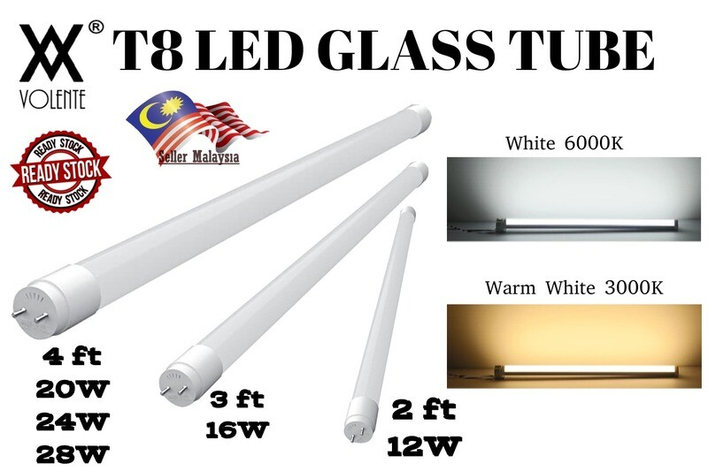 T8 LED GLASS TUBE 2FT 3FT 4FT