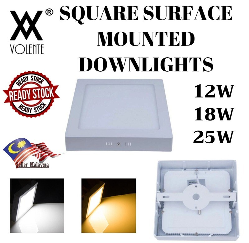 Square Surface Mounted Led Ceiling Down Light Panel Lamp White / Warm White