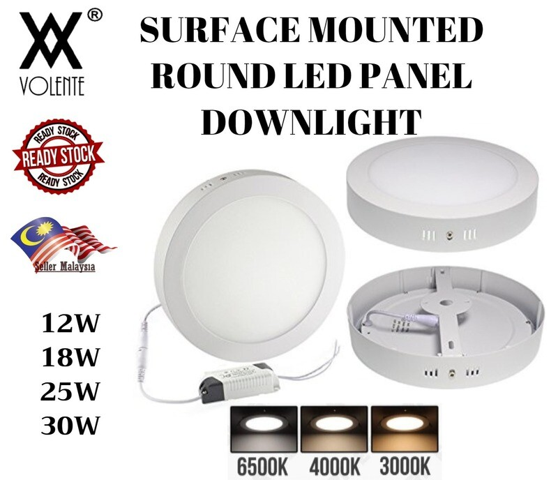 SURFACE MOUNTED ROUND LED PANEL DOWNLIGHT CEILING LIGHT