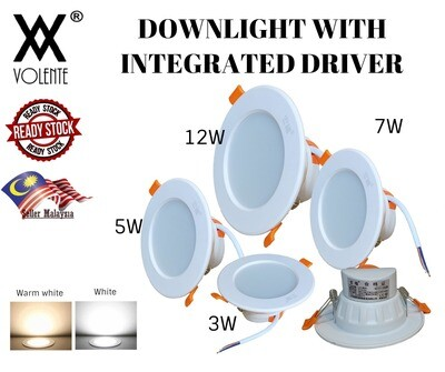 LED DOWNLIGHTS INTEGRATED DRIVER 3W 5W 7W 12W PLASTER CEILING BATHROOM LIVING ROOM BEDROOM
