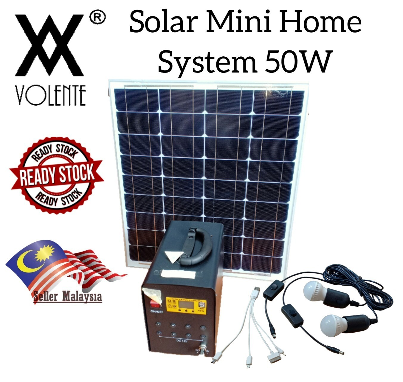 50W Solar Charge Controller/Mini Home Solar Power System/Solar Generator