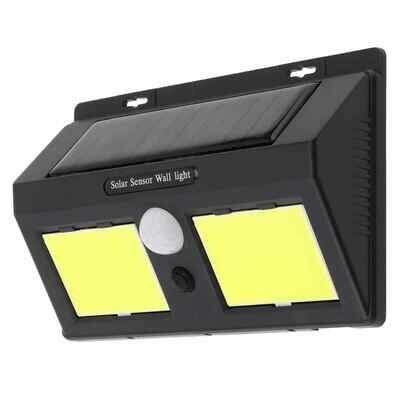 IP45 Waterproof Outdoor Solar Power PIR Sensor + CDS Night Sensor Volente Wall Light Garden Lamp