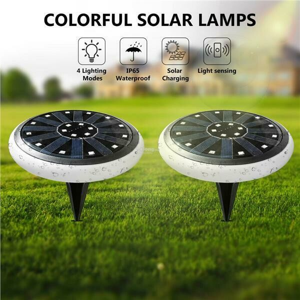 Garden/Landscape/Flooring/Ground (Disk/Buried) Lighting RGB LED Solar Lights Outdoor Waterproof