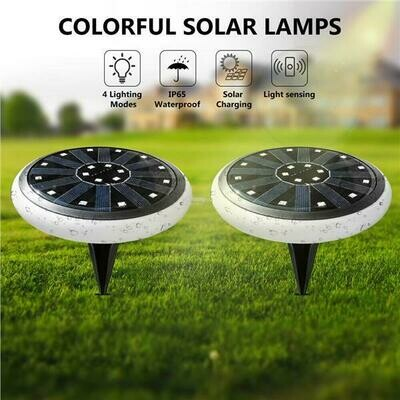 Garden/Landscape/Flooring/Ground (Disk/Buried) Lighting RGB LED Solar Lights Outdoor Waterproof