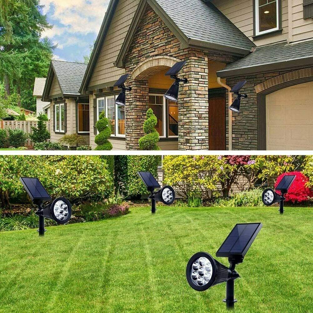 Solar Powered 2-in-1 Adjustable Volente Outdoor Lighting / IP65 Waterproof Landscape In-Ground / Wall Light