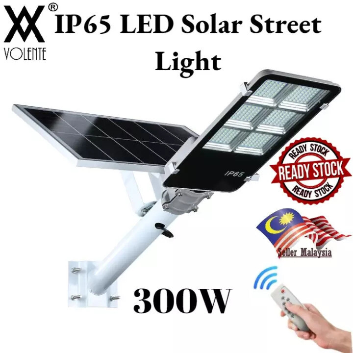IP65 Outdoor Lighting Waterproof Volente LED Solar Street Light 300W