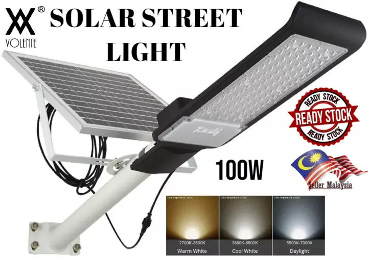 Outdoor Lighting / Waterproof IP66 Volente 100W Solar Street Lamp Split (White/Warm White/Cool White)