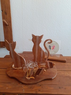 Lampe Chats avec ses chatons