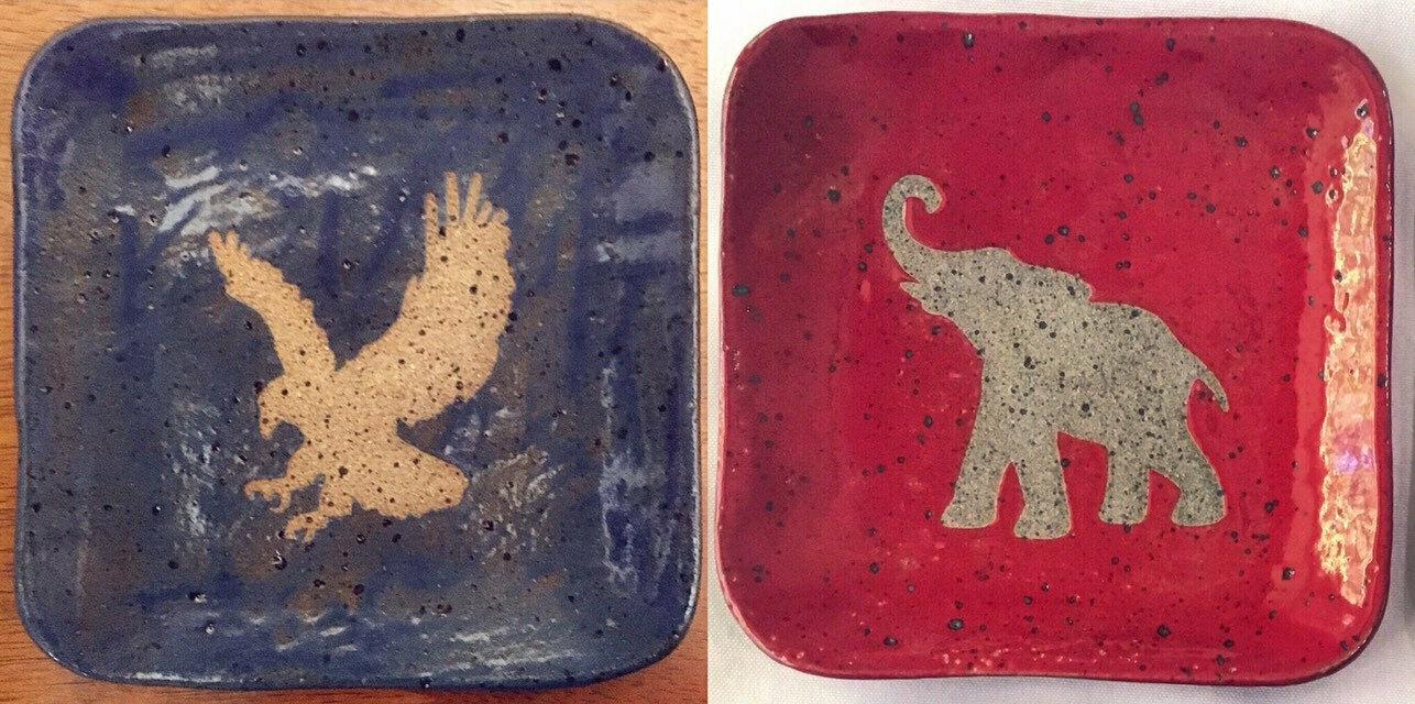 Eagle/elephant dish