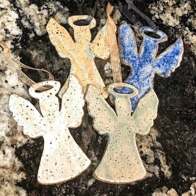 Speckled Angel ornament