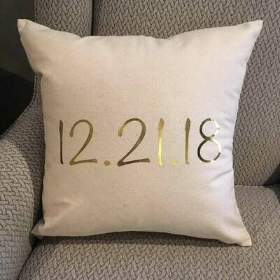 Custom pillow (wedding date or birthday)