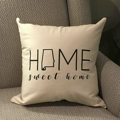 Pillow-home sweet home (Alabama)