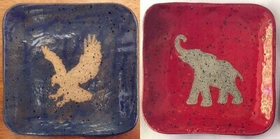 Eagle/elephant dish