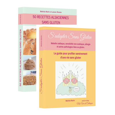 PACK Livres S'adapter Sans Gluten + 50 Recettes Alsaciennes Sans Gluten