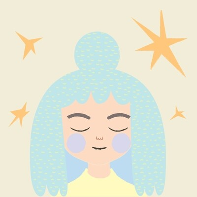 STAMPA - CO•SE - GIRL WITH STARS