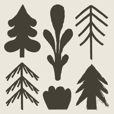 STAMPA - CO•SE - BLACK TREES