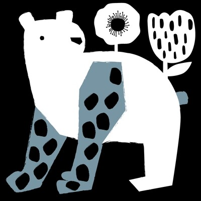 STAMPA - CO•SE - HAPPY BEAR WITH FLOWER