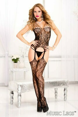 LACE CAMI & STOCKING