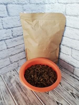 Сушеная личинка мухи Черная львинка, стоимость за 1 литр.