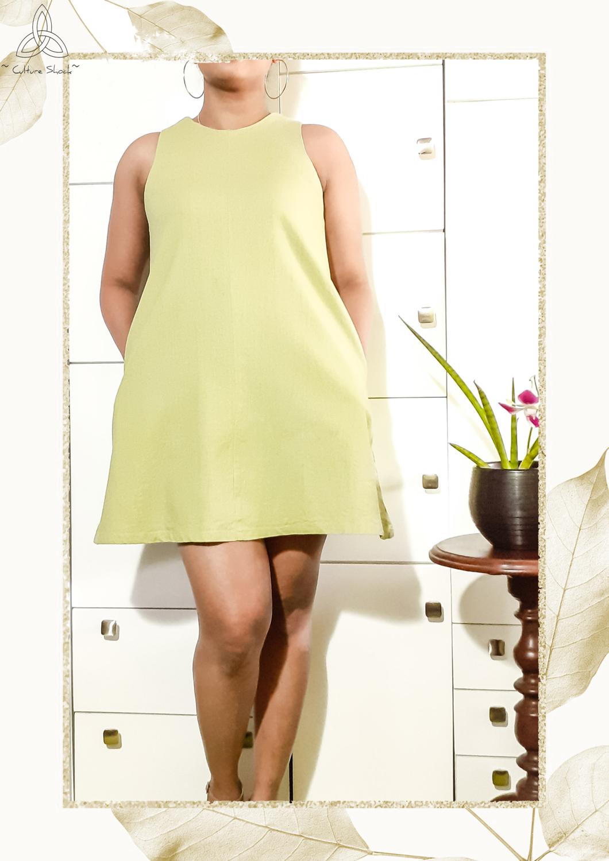Olive Garden Linen Dress