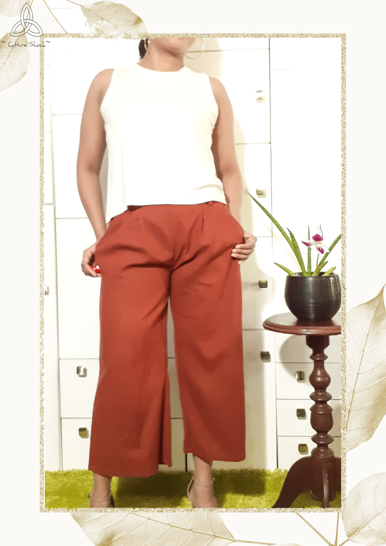Rust Linen Pant
