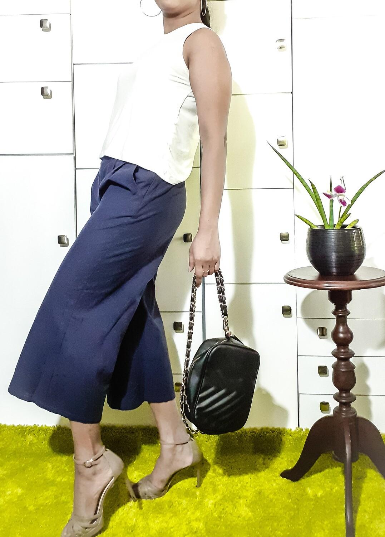 Dark Blue Linen Pant