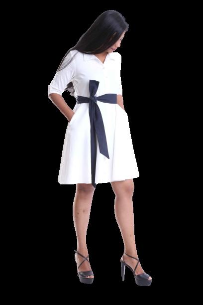 Blanc Chique Linen Dress