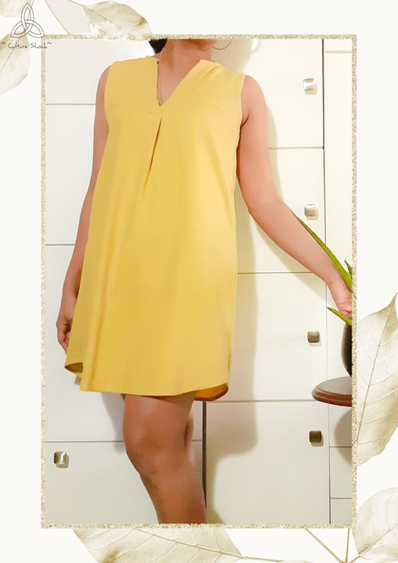 Butter Cup Linen Dress