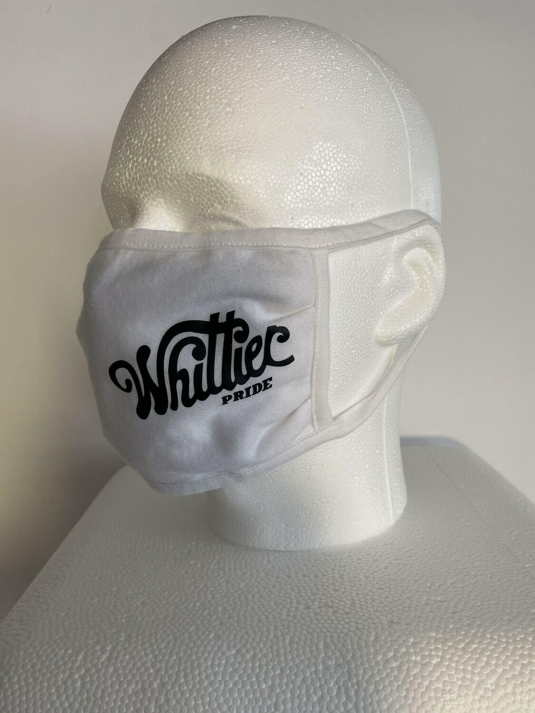 2020 Pride Ride Mask (White w/Black Lettering)