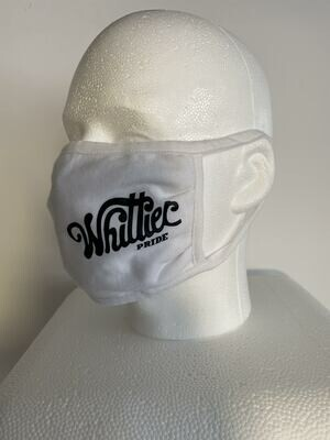 2020 Pride Ride Mask (White w/Black Lettering)