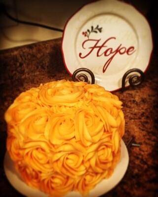 Vanilla Almond Rosette Cake