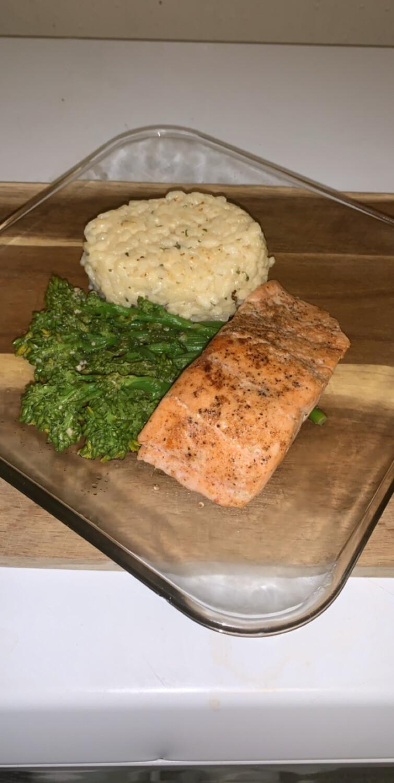 Salmon, Couscous, Asparagus