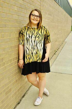 Animal Print Pocket Dress