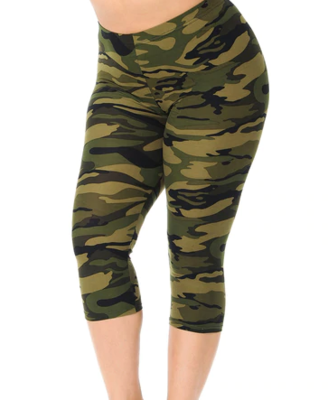 Camo Plus Capri Leggings