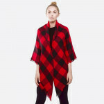 Red Buffalo Plaid Blanket Shawl