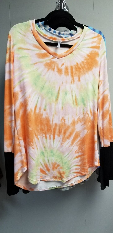 Orange Tie Dye long sleeve
